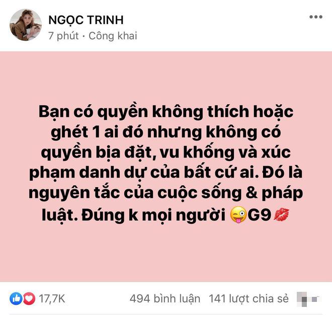 Giữa drama Hương Giang và antifan, Ngọc Trinh bất ngờ nêu quan điểm gây chú ý - ảnh 1