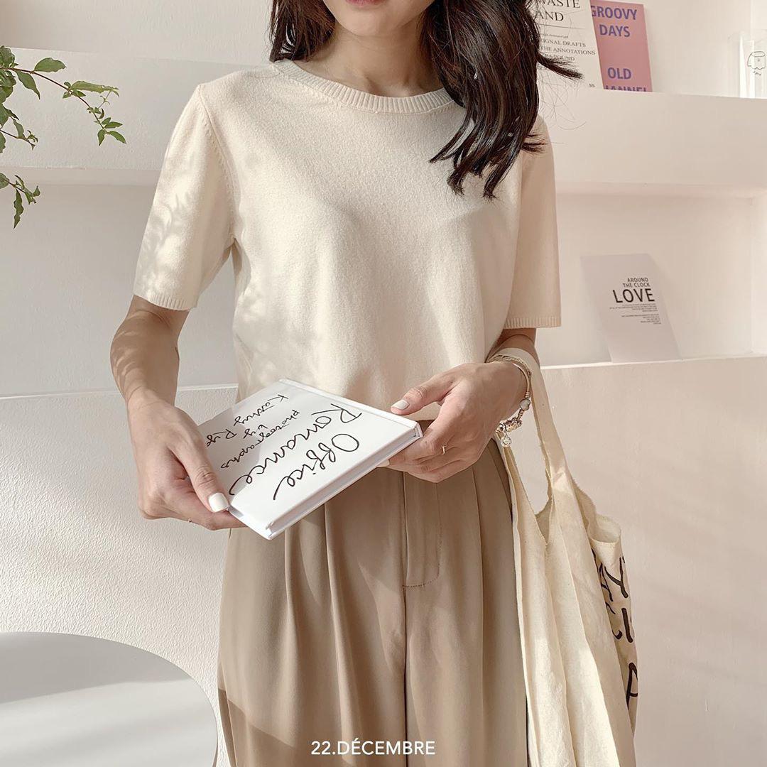 Ngắm 10 mẫu áo len cộc tay xinh chuẩn Hàn này, bạn sẽ muốn sắm bằng hết để diện dần  - Ảnh 3.