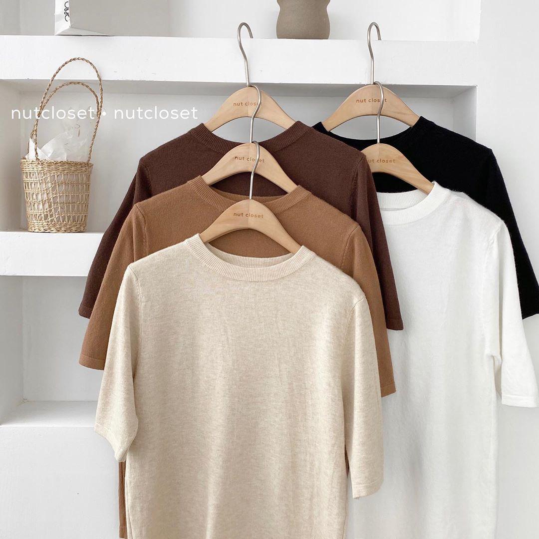 Ngắm 10 mẫu áo len cộc tay xinh chuẩn Hàn này, bạn sẽ muốn sắm bằng hết để diện dần  - Ảnh 5.