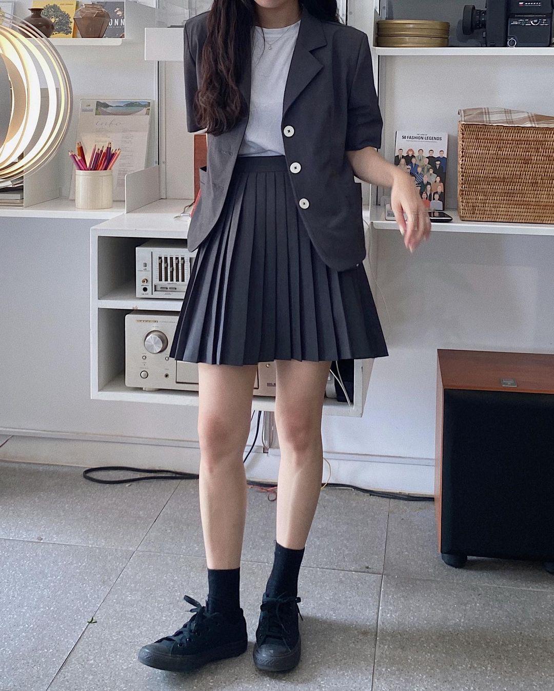 Gái Hàn mặc blazer trông sang chảnh chứ không hề già, các nàng học ngay 10 công thức để có set đồ trendy không cần hỏi - Ảnh 9.