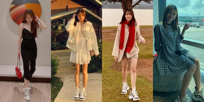 Không biết chuyện tình cảm trúc trắc thế nào, nhưng nhìn street style sẽ thấy Huỳnh Anh nhất kiến chung tình với 4 đôi giày thể thao này - Ảnh 2.