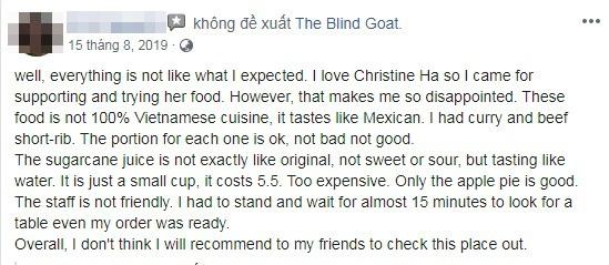 Đại diện nhà hàng của Christine Hà lên tiếng sau khi bị đầu bếp Việt chê dở lẫn miệt thị: Chính những người như anh ấy khiến ẩm thực Việt không thể được thế giới biết đến - Ảnh 10.