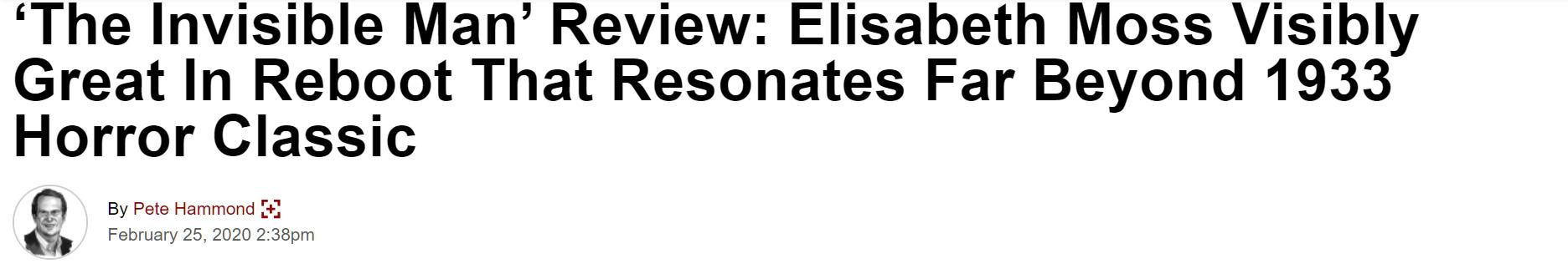 Giới mộ điệu quốc tế hết lời khen ngợi The Invisible Man: Phim kinh dị nổi da gà, nữ chính Elisabeth Moss hay xuất sắc - Ảnh 3.