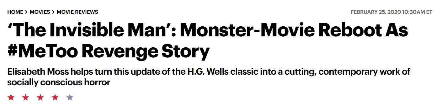Giới mộ điệu quốc tế hết lời khen ngợi The Invisible Man: Phim kinh dị nổi da gà, nữ chính Elisabeth Moss hay xuất sắc - Ảnh 6.