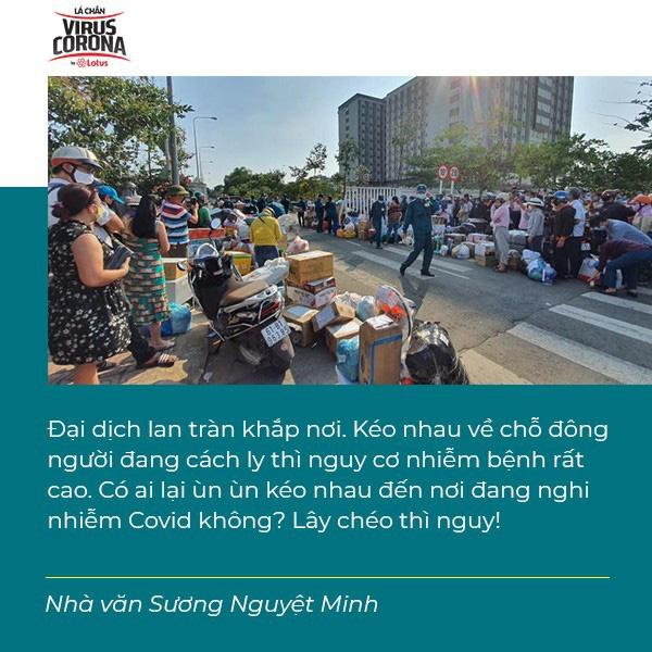 Nhà văn Sương Nguyệt Minh: Chỉ có 14 ngày cách ly, xin đừng đổ xô đi tiếp tế - Ảnh 3.