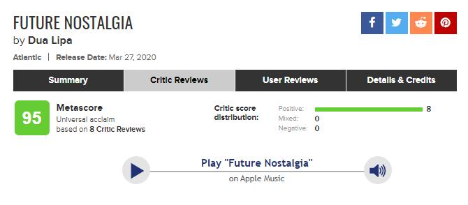 Dua Lipa vừa ra album mới đã nhận cơn mưa lời khen vì chất lượng âm nhạc mà Lady Gaga theo đuổi nhưng mãi không nắm bắt được? - Ảnh 1.