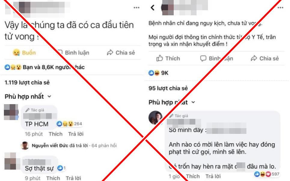 Mời chủ tài khoản Facebook Nguyễn Sin lên làm việc do tung tin có người chết vì Covid-19