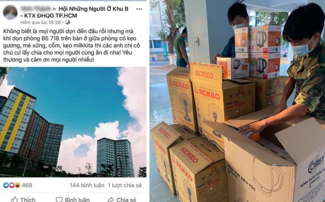 Hàng loạt sinh viên quyên góp đồ, tình nguyện dọn dẹp KTX cách ly: Đồ ăn, nước uống, nhu yếu phẩm... thứ gì cũng có hết!