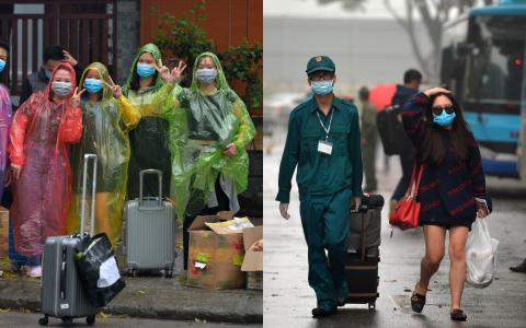 Hà Nội: Hơn 200 công dân bịn rịn chia tay để trở về nhà sau thời gian cách ly tại khu nhà ở sinh viên Pháp Vân - Tứ Hiệp