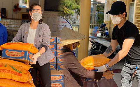 Nhật Kim Anh và TiTi (HKT) trao 3 tấn gạo, 300 thùng mì giúp bà con vượt qua mùa dịch, lời chia sẻ sau đó gây xúc động