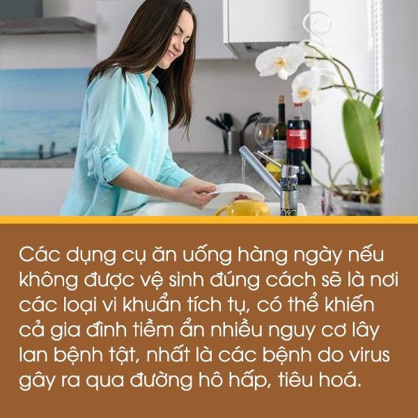Ở nhà nội trợ: Học ngay chuyên gia cách rửa bát đũa để không tiềm ẩn nguy cơ lây lan bệnh - Ảnh 2.