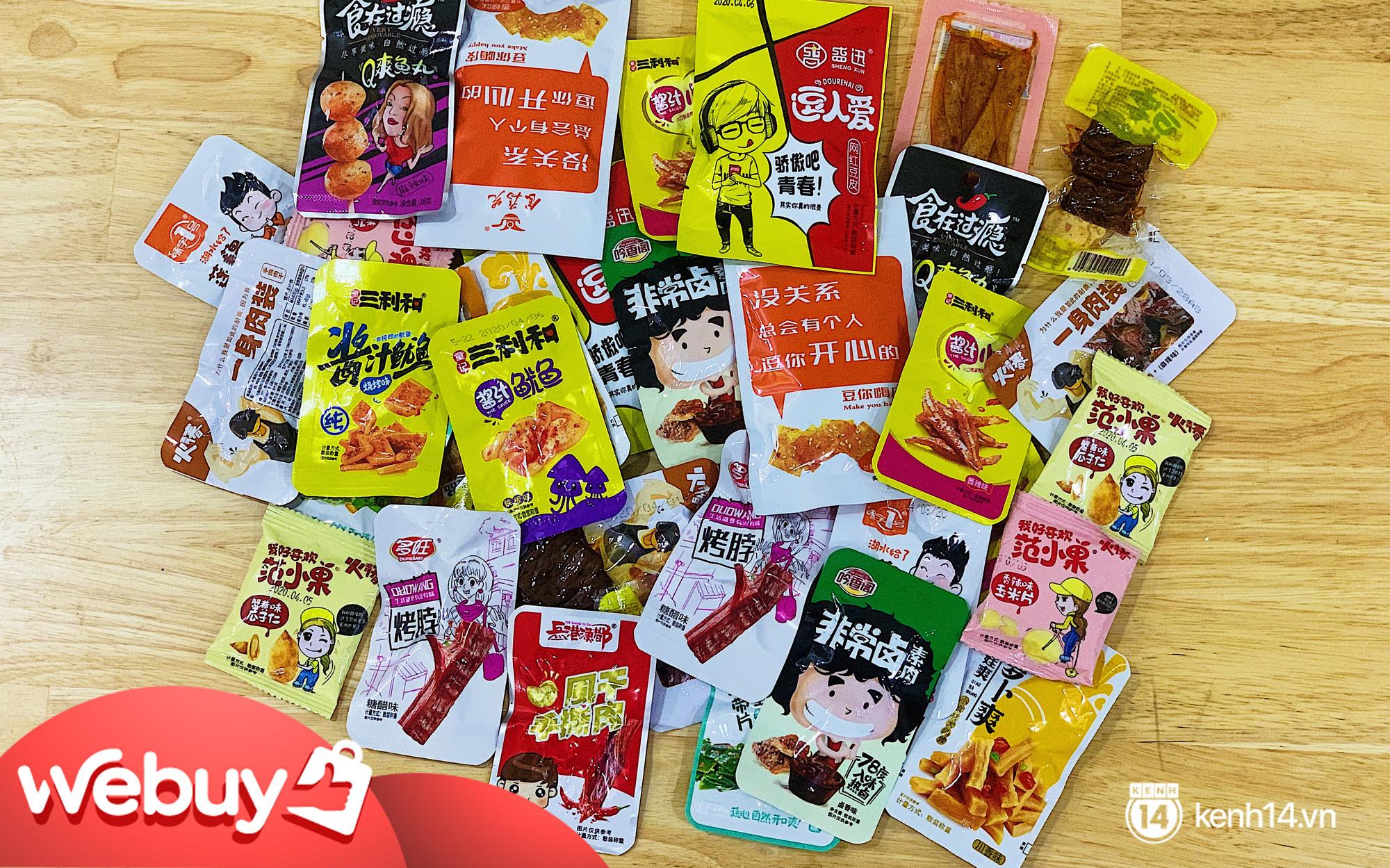 Review set đồ ăn vặt nội địa Trung Quốc hot hit gần đây
