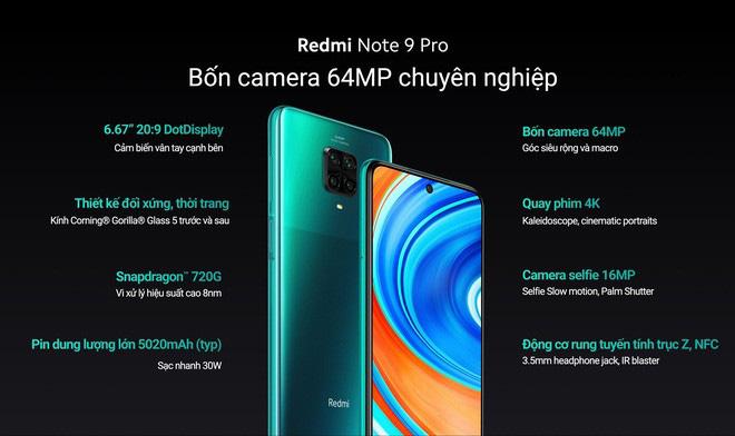 Redmi Note 9 và Redmi Note 9 Pro ra mắt tại Việt Nam: Màn hình đục lỗ, 4 camera, giá từ 3.99 triệu đồng - ảnh 2