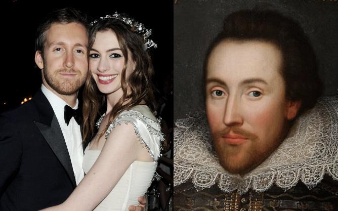 ''Duyên tiền kiếp'' liệu có thật? Chuyện tình yêu của minh tinh Anne Hathaway gây choáng vì liên quan đến Shakespeare?