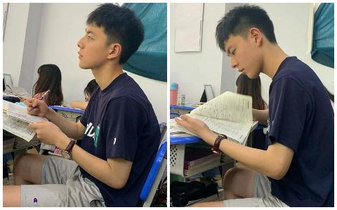 Chỉ với vài bức hình chụp lén khi học bài, nam sinh điển trai khiến hội chị em gục ngã vì góc nghiêng quá đỗi xuất sắc