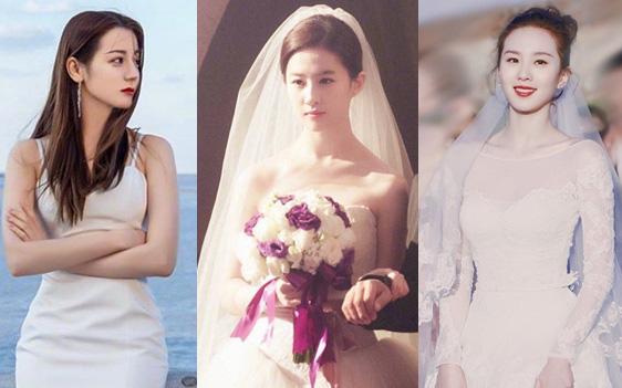 9 cô dâu nhan sắc đỉnh bức người ở màn ảnh Hoa ngữ: Cứ nghĩ thần thái là thế nhưng Địch Lệ Nhiệt Ba vẫn chưa phải đỉnh nhất nha!