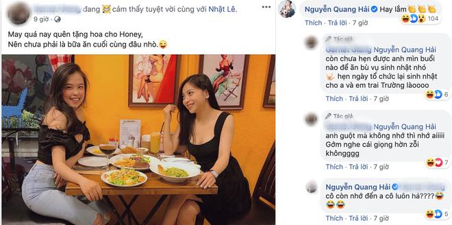 Quang Hải bình luận trong bài viết tag tên Nhật Lê, Huỳnh Anh liền đăng status ẩn ý: Cái gì cũng biết, biết điều thì không - ảnh 1