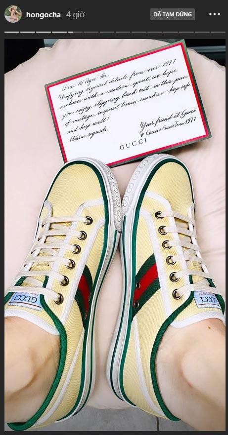 Gucci tặng Hà Hồ giày bệt giữa lúc tin bầu bí được xác nhận, quả là món quà ý nghĩa đúng thời điểm mà! - ảnh 2