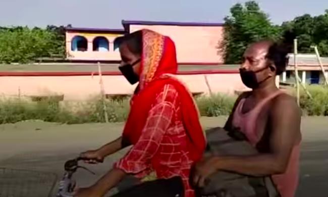 Bức ảnh bé gái 15 tuổi đạp xe 1.200km đưa bố về quê gây bão MXH và câu chuyện khiến mọi người vừa thương vừa nể phục - ảnh 1