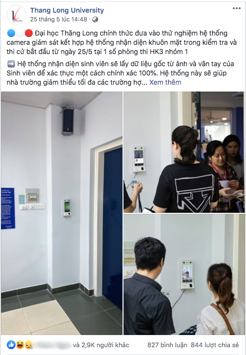 Trường đầu tiên tại Việt Nam thử nghiệm hệ thống camera nhận diện khuôn mặt trong giờ kiểm tra, thi cử - ảnh 1