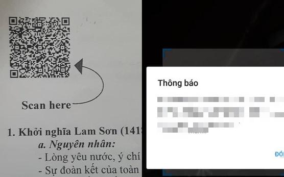 Giáo viên phát đề cương ôn tập chẳng hiểu lại để mã QR làm gì, học trò scan nhận về kết quả đọc vào là nhột