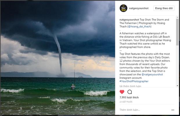 Bức ảnh Ông già và biển cả phiên bản Việt lọt top 1 ảnh về câu chuyện đại dương do National Geographic bình chọn và chia sẻ đầu tiên của chính tác giả - ảnh 2