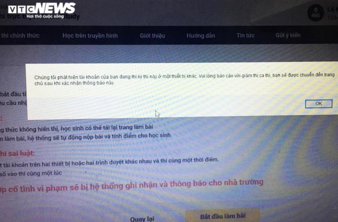 Hà Nội thi thử trực tuyến: Học sinh 'loạn cào cào' vì lỗi hệ thống, nghẽn mạng - ảnh 2
