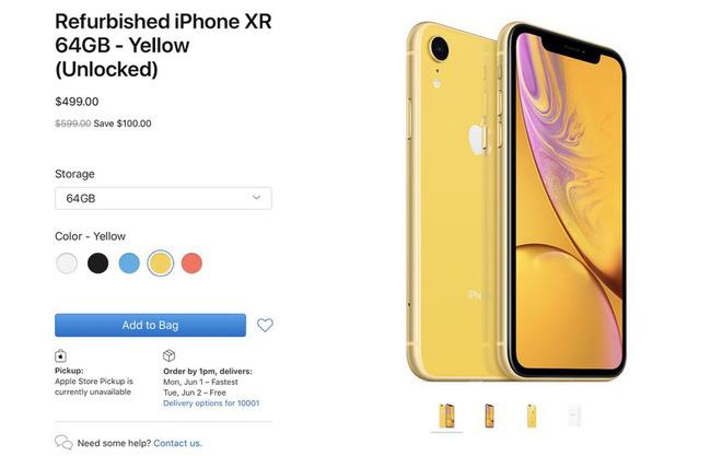 Apple bắt đầu mở bán iPhone XR tân trang, đã rẻ nay còn rẻ hơn - ảnh 1