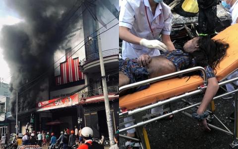 Giải cứu 7 người mắc kẹt trong căn nhà bốc cháy dữ dội ở Sài Gòn