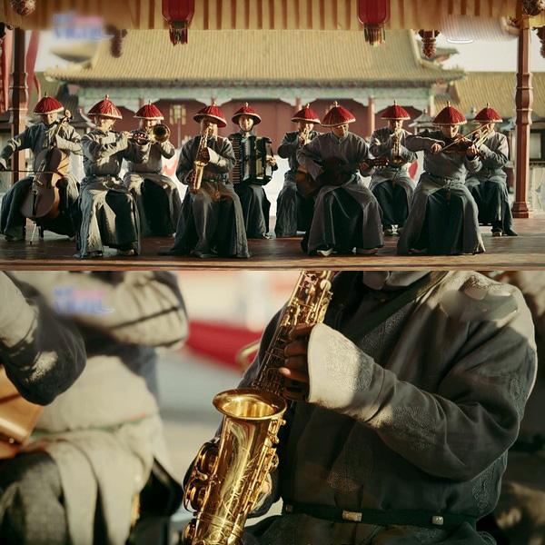 Rổ sạn hài tắt thở phim Hoa ngữ: Điện thoại, giày thể thao bất ngờ xuyên không về thời cổ trang - ảnh 4