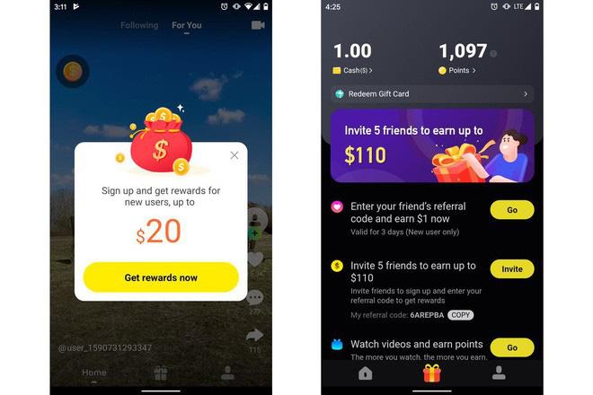 Xuất hiện ứng dụng nhái TikTok, trả tiền cho người xem video, leo luôn top 1 App Store - ảnh 2