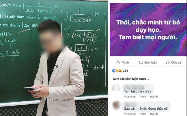 Thầy giáo làm hộ học sinh bài thi thử online lên tiếng: Chắc mình sẽ từ bỏ dạy học?