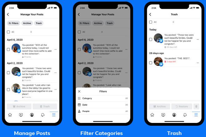 Facebook ra mắt tính năng mới, giúp xóa bỏ quá khứ đau thương và các bài đăng ngớ ngẩn thời trẻ trâu dễ dàng hơn - ảnh 1
