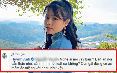 Huỳnh Anh (bạn gái Quang Hải) muốn mời luật sư khi bị anti-fan làm phiền trên Facebook cá nhân - ảnh 1