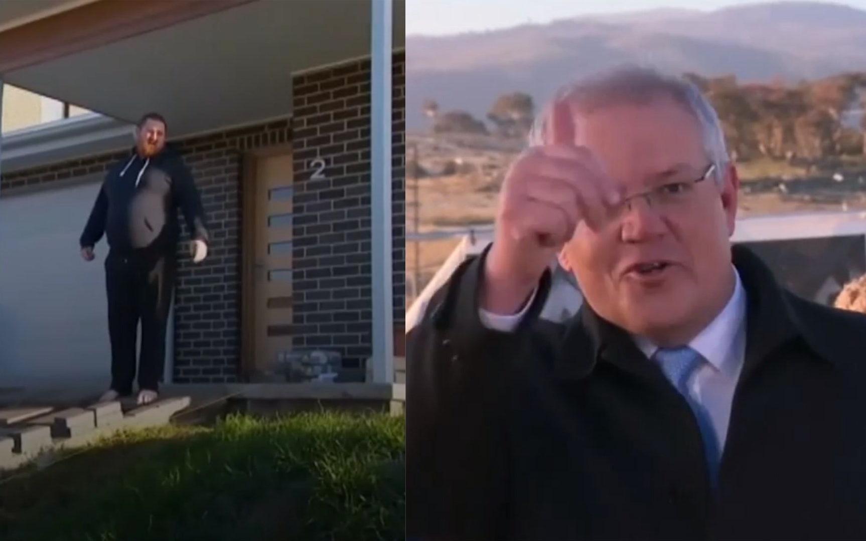 Dẫm lên bãi cỏ mới trồng, Thủ tướng Úc bị người dân ''quát'' trên sóng truyền hình trực tiếp