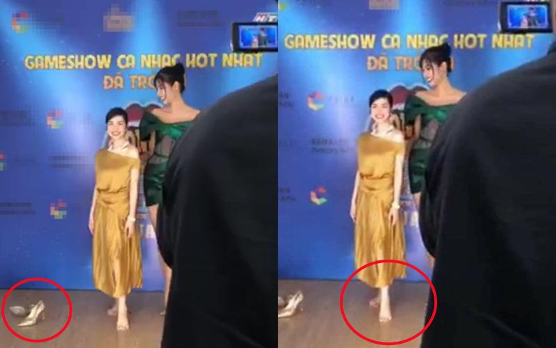 Hoà Minzy quăng giày cao gót đọ dáng cùng Hoảng Thuỳ: 1m55 với 1m77, chân dài tới nách là có thật!