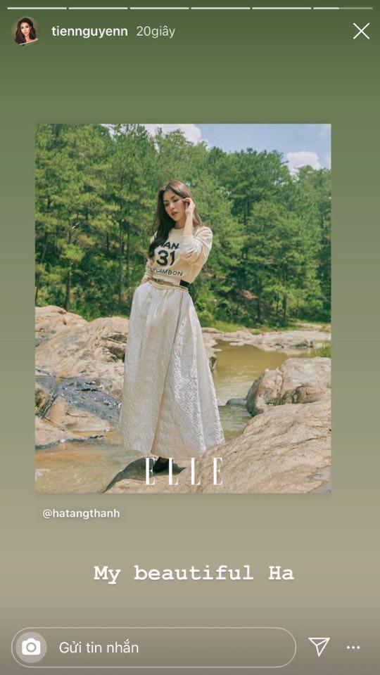 Hà Tăng xinh đẹp ngút ngàn trên bìa tạp chí, Tiên Nguyễn có ngay động thái gây chú ý vì quá mê nhan sắc chị dâu - ảnh 1