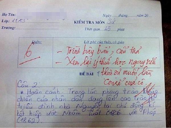 Những pha chọc ngoáy học sinh bằng lời phê cực chất của giáo viên: Thánh cà khịa là đây chứ đâu! - ảnh 3