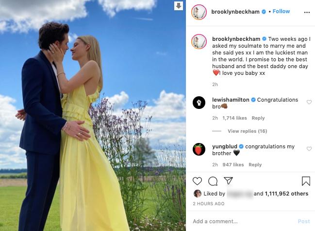 NÓNG: Brooklyn Beckham xác nhận chuẩn bị làm đám cưới ở tuổi 21 với tiểu thư tỷ phú, Victoria chính thức chúc mừng - Ảnh 2.