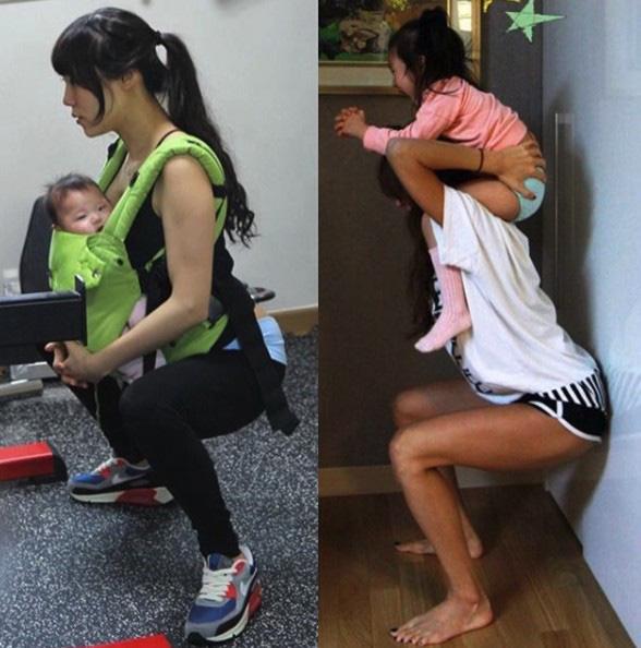 Tăng cân không phải là điều xấu: mẹ bỉm sữa người Hàn tăng 7kg vẫn có thể sở hữu được cơ bụng số 11 hoàn hảo - ảnh 15