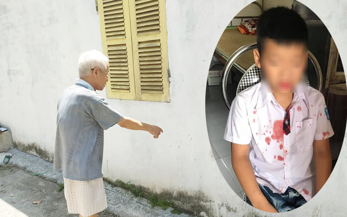 """Nhân chứng kể giây phút người đàn ông hành hung bé học sinh lớp 1 để """"trả thù"""": Cháu bé bị đạp vào tường, van xin nhưng vẫn bị đánh"""
