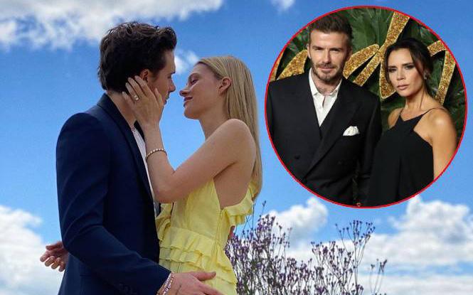 """""""Cuộc chiến"""" quà cưới cho Brooklyn: Nhà tỷ phú đằng gái """"thầu"""" cả hôn lễ, vợ chồng Beckham tặng cả biệt thự ở London"""
