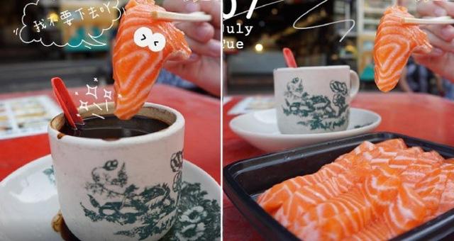 Bức ảnh ngang trái cá hồi tươi sống chấm cà phê đen gây sốt MXH khiến nhiều người rùng mình, dân mạng khuyên can: Đừng dại mà thử! - Ảnh 2.