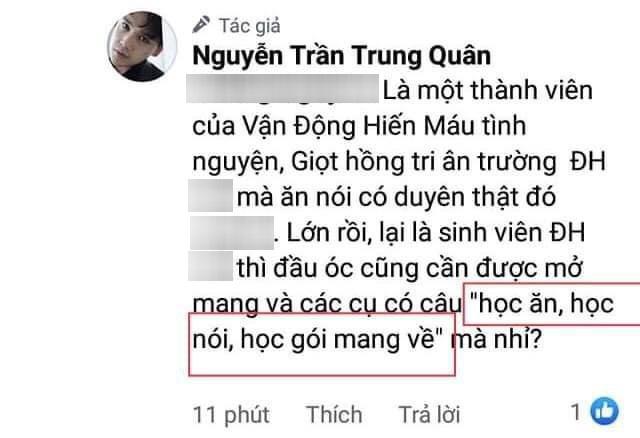 Bị chê dẫn tục ngữ sai khi đáp trả antifan, Nguyễn Trần Trung Quân lập tức lên tiếng đính chính - ảnh 1