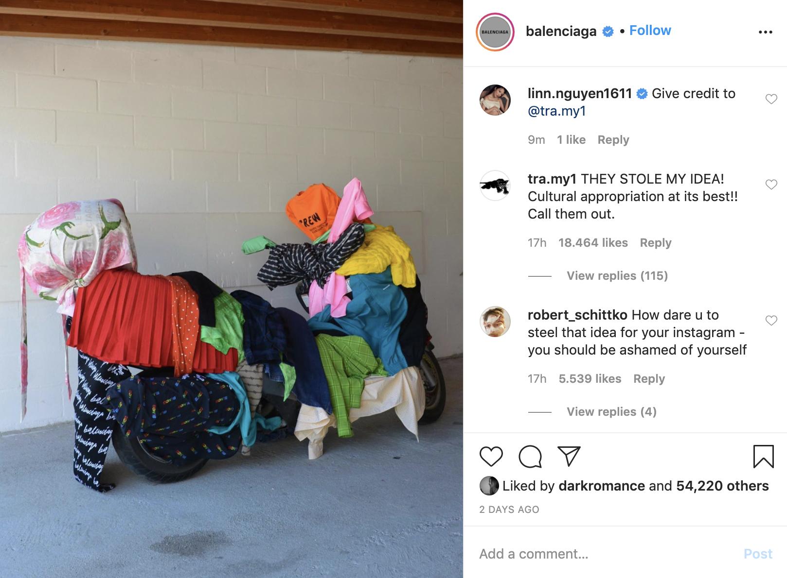 Cô gái gốc Việt tố Balenciaga ăn cắp ý tưởng, khiến netizen khủng bố Instagram của thương hiệu - Ảnh 2.