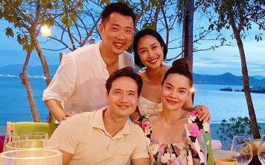 Ốc Thanh Vân hội ngộ gia đình Hà Hồ trong kì nghỉ sang chảnh, chỉ 1 câu chúc đã tiết lộ tình trạng của mẹ bầu và Kim Lý