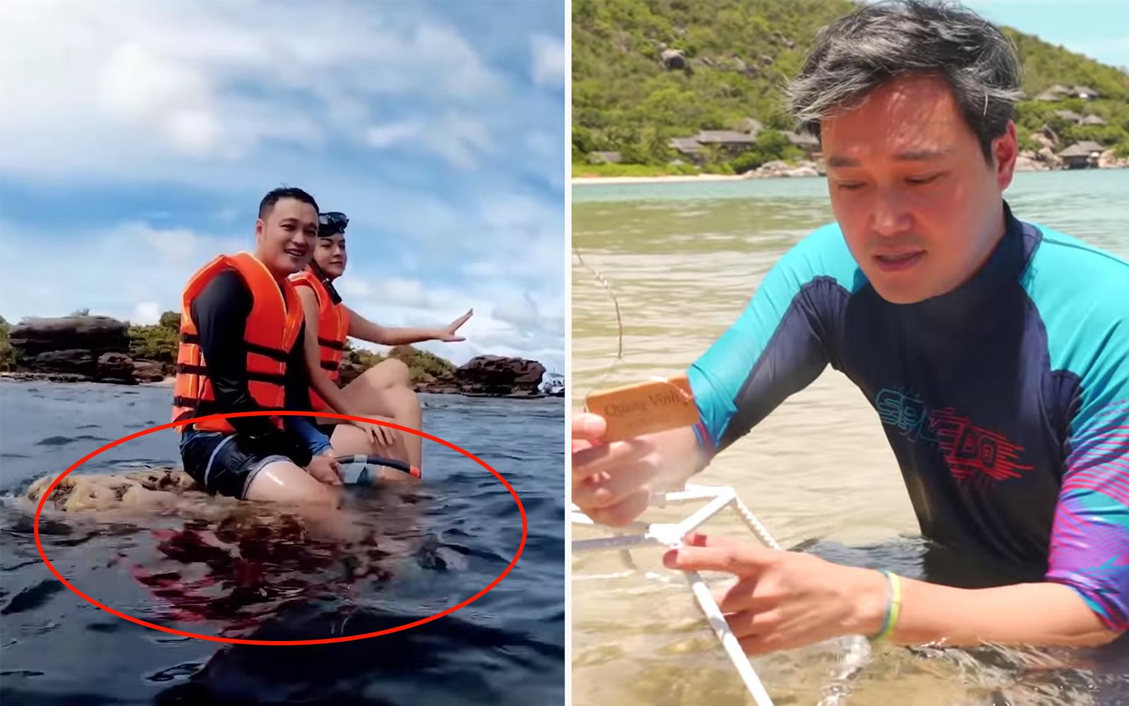 Quang Vinh lên tiếng xin lỗi về sự cố ngồi lên rạn san hô khi quay clip du lịch ở Phú Quốc