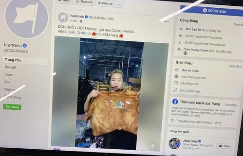 Cựu tuyển thủ Chelsea bất ngờ bị một số chị em Việt Nam hack fanpage để livestream bán quần áo - ảnh 3