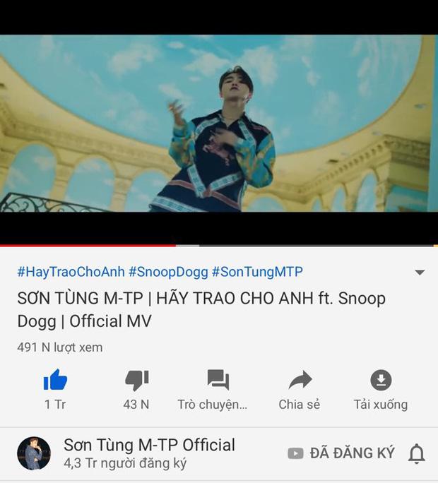 Thành tích MV mới của Sơn Tùng M-TP sau 3 giờ lên sóng: Phá kỷ lục công chiếu và lượt view nhưng hụt hơi chỉ số triệu like - ảnh 4