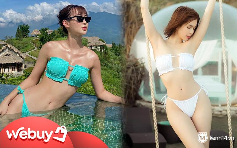 """Sun HT diện bộ bikini hot nhất hè này để khoe vòng 1 """"mới tinh"""", dù đụng hàng Ngọc Trinh cũng khó mà lép vế"""